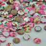 50/100pc Fancy Flowers Button Sewing Appliuest doll Flatback buttons CT16