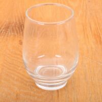 Vintage Clear Tumbler Juice Glass Built In Foot