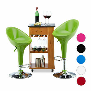 Adjustable Bar Stool Set of 2, Swivel Counter Stools, Bistro Chair with Backrest