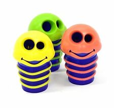 2 Helix Maped Funny Croc Croc Worm 2 Hole Pencil Sharpener Retractable Canister