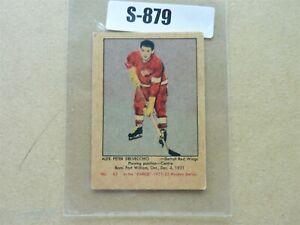 HOCKEY CARD PARKHURST 1951-52  DETROIT RED WING ALEX DELVECCHIO ROOKIE  S879