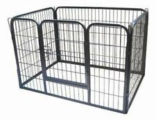 Puppy Play Pen Dog Rabbit Enclosure Whelping Box Crate Run Exercise Grey, Large