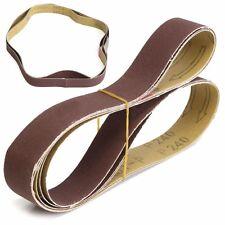 """3 Pack 1"""" x 30"""" Sanding Belts, 240 Grit,AL Oxide 762 x 25mm YS"""