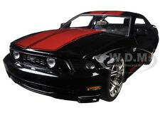 2010 FORD MUSTANG GT BLACK W/ RED STRIPES 1/24 DIECAST MODEL CAR BY JADA 96868