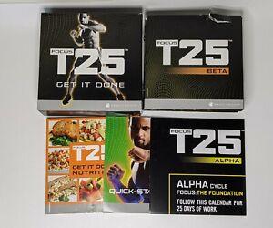 Focus T25 Get It Done Beachbody Alpha Beta Base Workout 9 DVD Set Missing 1 Disc