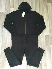 Mens ENTT King Fashion Tracksuit Fleece Bottom Jogger Gym Jumper Black Size LRG