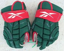 "Reebok 10K 14"" Pro Stock Hockey Gloves Minnesota Wild 2546"