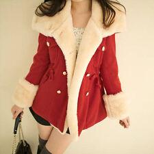 Women Winter Warm Double-Breasted Slim Wool Blend Jacket Coat Parka Outwear D3