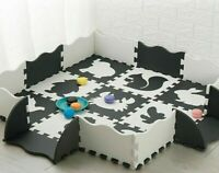 Play Mat With Fence EVA Foam Baby Puzzle Thick Carpet Educational Toys Activity