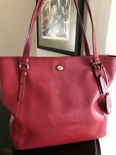 Authentic Coach Red Leather Tote EUC