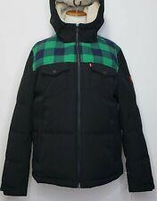 Levi's Men's Two Tone Black Green Plaid Winter Jacket Size M