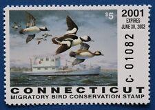 U.S. (CT09) 2001 Connecticut Migratory Bird Stamp (MNH)
