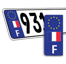 2 x Vinyle Plaque D'Immatriculation Adhésif Européen Badge France Drapeau QV 40
