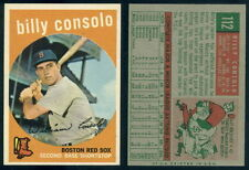 (28852) 1959 Topps 112 Billy Consolo Red Sox-EM