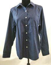 LL Bean Wrinkle Free Women's Button Up Shirt Long Sleeve Blue Size M