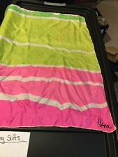 Vintage square Vera scarf hot pink green Bbb5