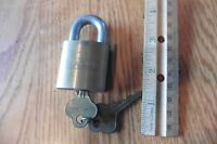 Brass Eagle Lock Padlock with 2 Original Keys Vintage