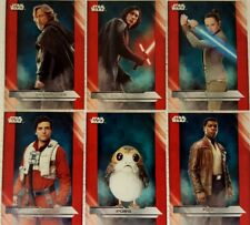 Star Wars Episode VIII THE LAST JEDI Trading Card Set of 100 topps Dec 2017
