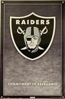Raiders Logo Commitment to Excellence Poster 23 X 34