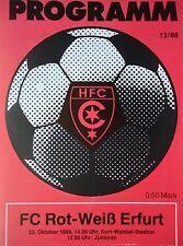 Programm 1988/89 HFC Chemie - RW Erfurt
