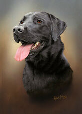 Black Labrador Retriever Limited Edition Print by Robert J. May