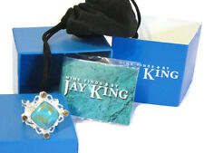Jay King Turquoise & Smoky Quartz Sterling Silver Ring 9 New In Box