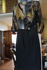 Black Halo Dress Sheer Bodice Black Skirt Ladies  (bin100)