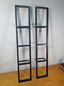 2 IKEA Lerberg Media Wall Mount CD DVD Shelf Racks Charcoal Dark Gray set