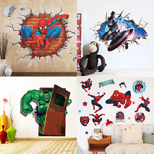 3D Superhero Home Children Room Decor Mural Decal Vinyl Art PVC Wall Sticker DIY