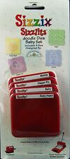 SIZZIX SIZZLITS BABY SET BABY HEAD BABY DIAPER PIN BOTTLE 38-9622