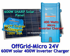 Victron Off Grid Micro System 24V DC to 500VA 230V 600W Solar FREE EU Delivery