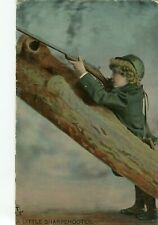 POSTCARD - TUCKS RAPHOLETTE - LITTLE SHARPSHOOTER -  POSTED 1908 CREASED