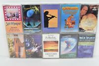Lot of 10 Selection of New Age Spiritual & Music Cassettes VG  C2