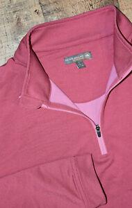 Peter Millar LARGE Perth Stretch Pink 1/4 Zip Pullover Jacket NAPLES FLORIDA B71