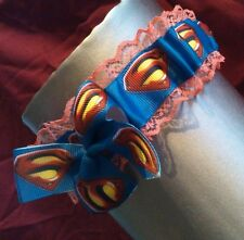 superman marvel wedding garter burlesque garter new super hero garter