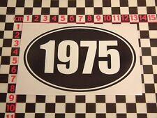 1975 Year Sticker - Morris MG Leyland Vauxhall Jaguar Land Rover Ford Birthday