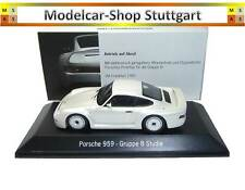 Porsche 959 Gruppe B Studie weiß - Spark 1:43 - Museum Edition - fabrikneu