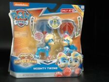 Paw Patrol Mighty Twins Tuck and Ella Super Paws Pup & Badge NIB
