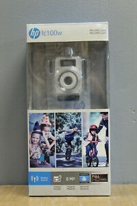 HP lc100w Full HD 1080p 4k Time Lapse Mini WiFi Water Resistant Camera White