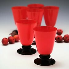Set of Six Tango Art Deco Glass Beakers c1920