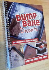 Dump & Bake Desserts Cookbook color photos, One Pan Mixing tasty cake recipes +