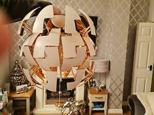 IKEA PS 2014 PENDANT CEILING LIGHT EXPLODING DEATH STAR WHITE/ROSE GOLD 35 cm