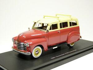 Esval EMUS43085A 1/43 1951 Chevrolet 3100 Suburban Wagon Resin Model Car
