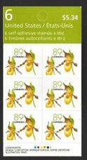 Canada  BK 318   YELLOW LADIES SLIPPER    Brand New 2005 Pristine Booklet