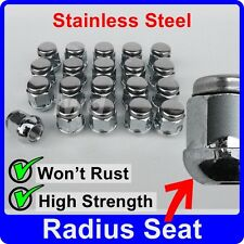 20 x ALLOY WHEEL NUTS FOR HONDA CIVIC (ROUND SEAT) STAINLESS CAP LUG BOLT [J50]