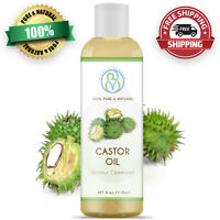 Castor Oil 4 oz 100% Pure & Natural For Skin, Hair, Eyebrows & Eyelashes