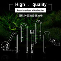 Aquarium tank plant Glass Inflow & Outflow  Φ13MM Φ17MM Lily/Poppy Pipe skimmer
