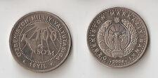 UZBEKISTAN 100 som 2004 10 Years of National Currency