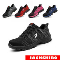 Work Safety Shoes Steel Toe Mens Cap Bulletproof Indestructible Sneakers Boots