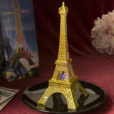 Set of 12 Light Up LED Gold Eiffel Tower Wedding Table Centerpieces